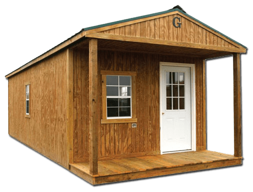 ample loft storage and can be utilized as the ideal hunting cabin
